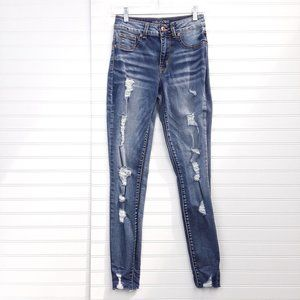 Maurices High-Rise Distressed Skinny Jeans